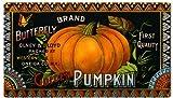 Butterfly Brand Golden Pumpkin Country Advertisement Reproduction Sign
