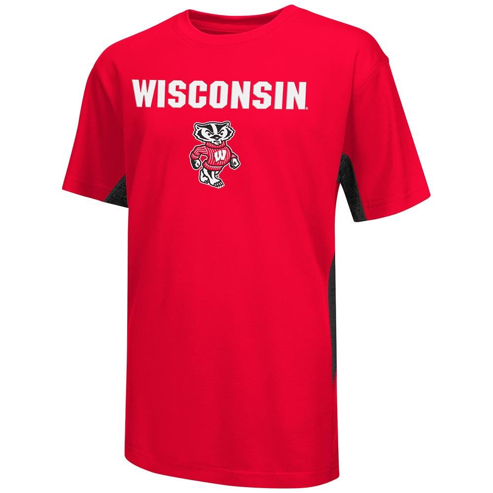 Team Color Youth NCAA Wisconsin Badgers Short Sleeve Tee Shirt