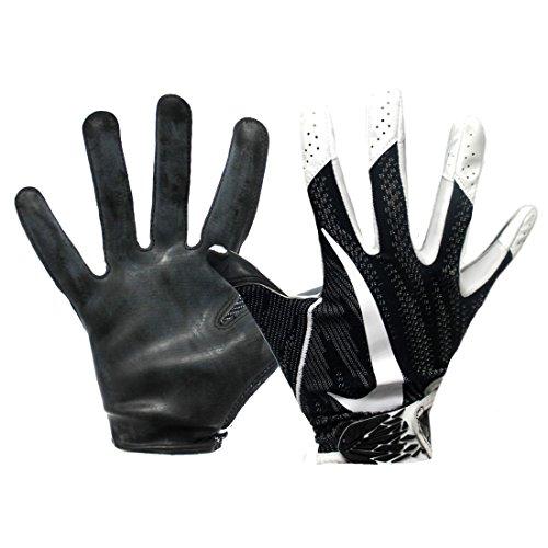 Nike Promo Vapor Knit 2 Adult Football Receiver Gloves (Black/White, XL)