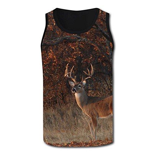 Gjghsj2 Leisurely Deer Tank Top Vest Shirts Singlet