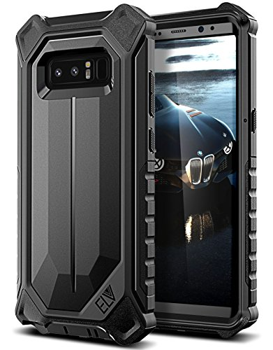 Galaxy Note 8 Case, ELV Samsung Galaxy Note 8 Holster Defender 360 degree Heavy Duty Armor Full Body Protective Hybrid with Belt Clip Case Cover for Samsung Galaxy Note 8