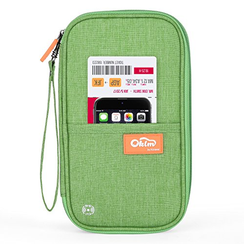 7738e754a683 RFID Travel Passport Wallet, Family Passport Holder, Waterproof Document  Organizer by FLYNOVA| Travel Accessories for Credit Cards etc.