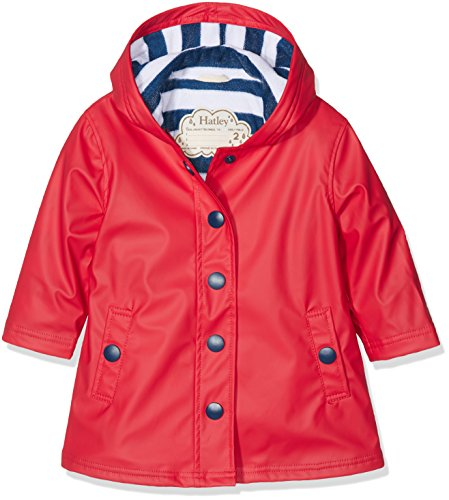 Hatley Girls' Little' Splash Jackets, Red, 2