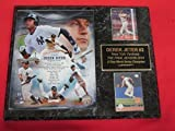 Yankees Derek Jeter 2 Card Collector Plaque w/ 8x10 FINAL SEASON Commemorative Photo w/Stats