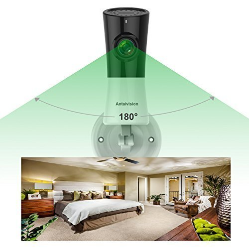 Antaivision 1080P WiFi Wireless Home Camera with Bracket, Full View Fisheye Panoramic IP Cam For Remote Home Surveillance With Night Vision, Motion Detection 2-Way talking for iPhone, Android and iOS