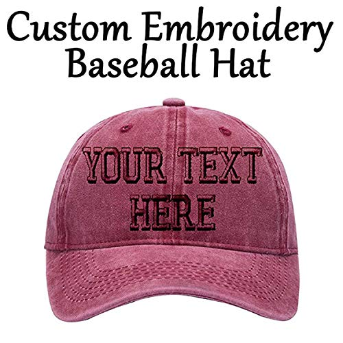 (Personalized Hats,Embroidered Baseball Caps Custom Curved Bill Trucker Visors)