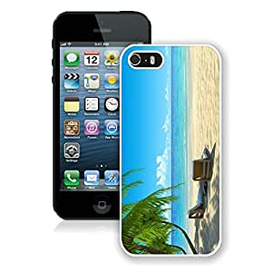 Cool Iphone 5s Case Custom Iphone 5 White Cover Chairs on Beach W Palmtrees by icecream design
