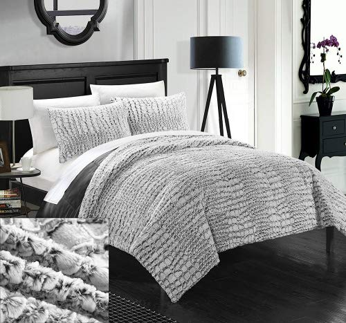 Chic Home 3 Piece Faux Fur Collection with Mink Like Backing