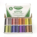 Crayola 800 Ct Crayon Classpack, 8 Assorted Colors (52-8008)
