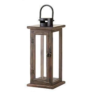 Koehler Home Decor Perfect Lodge Wooden Lantern