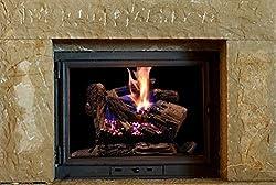 "Sure Heat BRO24DBRNL-60 Vented Gas Fireplace Logs, 24"", Charred Oak"