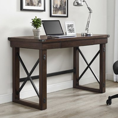 altra wildwood wood veneer desk mahogany by altra furniture