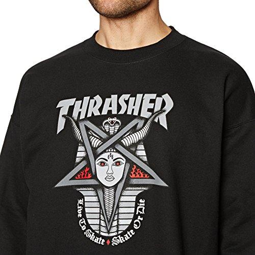 Crew Black Sweat Black 'goddess' Thrasher Sqnw5HR5