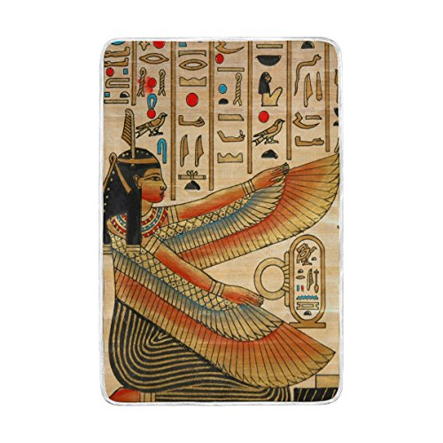 ALAZA Ancient Egypt Egyptian Blanket Lightweight Soft Warm Blanket Twin Size 60x90 inches for Bed Sofa Couch Office Home Decor