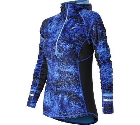 New Balance de las mujeres calor chaqueta con media cremallera - WT63220, Bluefin Multi: Amazon.es: Deportes y aire libre