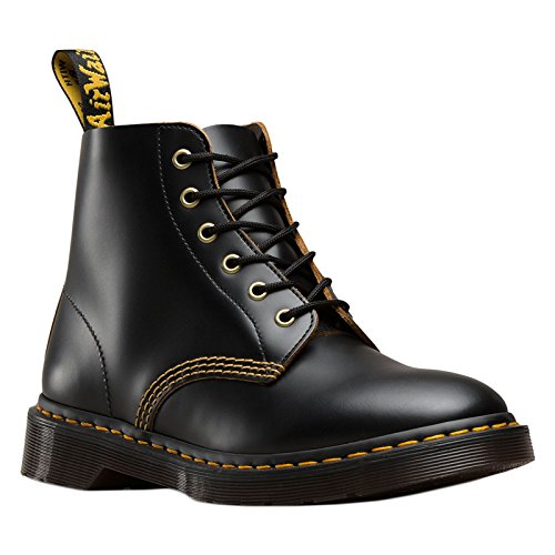 Dr. Martens Unisex 101 Smooth Archive 6-Eyelet Boot Black Vintage Smooth 10 M UK Medium