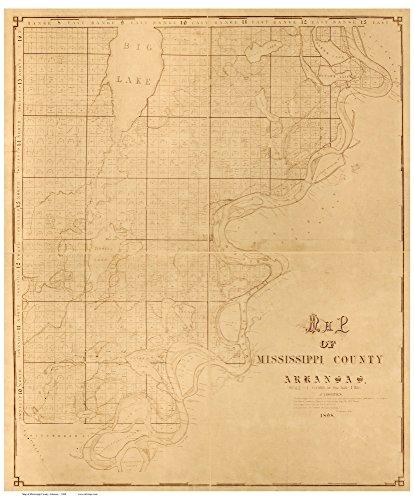 Amazoncom Mississippi County Arkansas Wall Map With - Arkansas land ownership maps