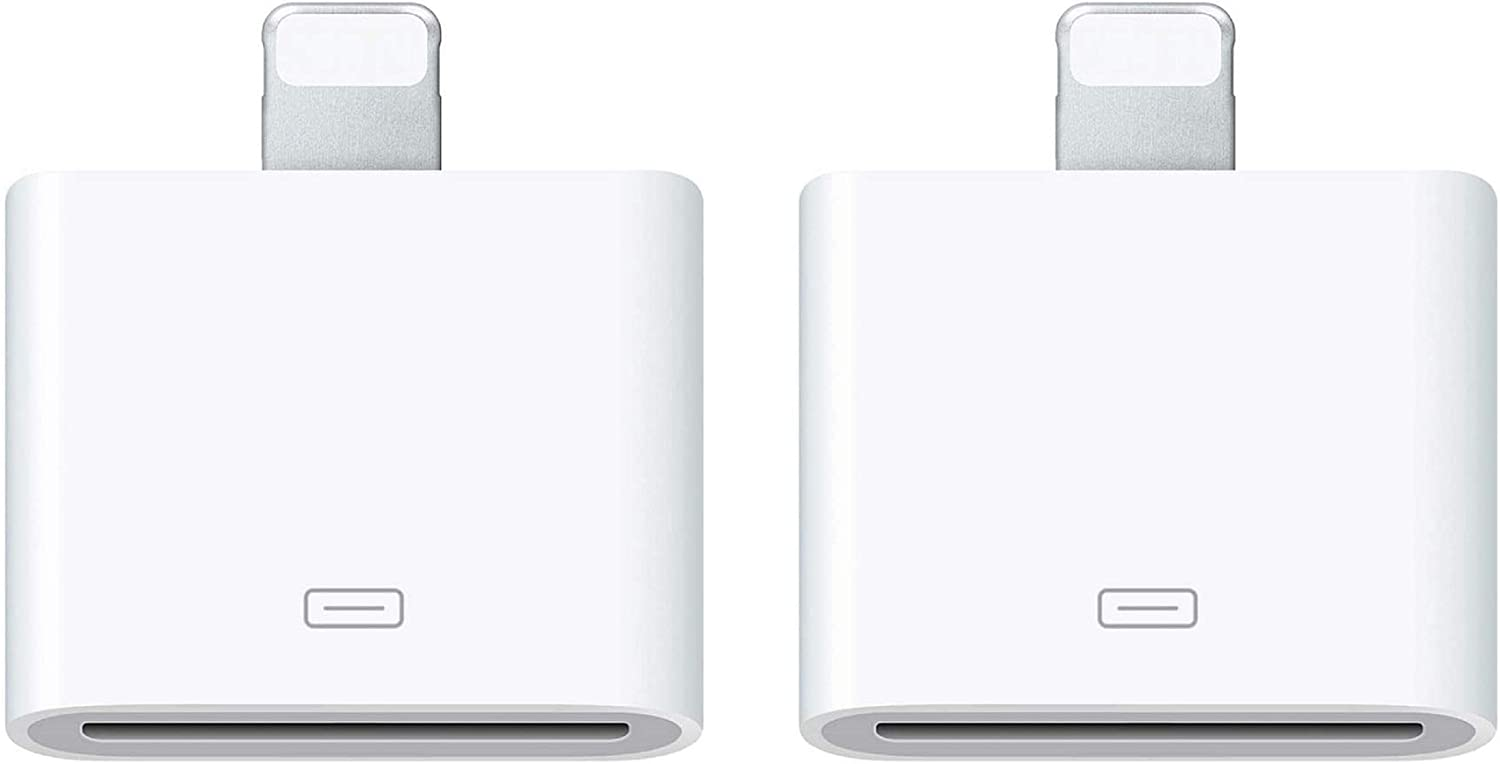 [Apple MFi Certified] 2 Pack Lightning to 30-Pin Adapter for iPhone, 8-Pin to 30-Pin Adapter Support Charging and Data Transfer, Compatible with iPhone 11/XS/X/8/7/6S/5/5S/SE and iPad/iPod(White)