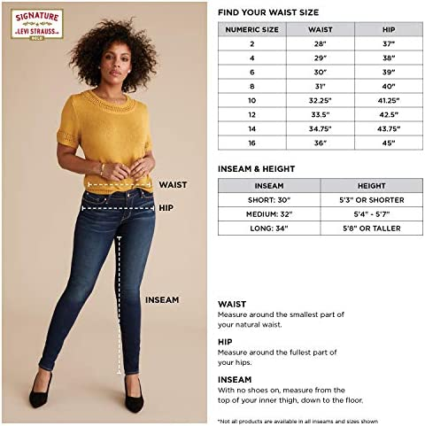 Signature by means of Levi Strauss & Co. Gold Label Women's Totally Shaping Pull-on Skinny Jeans