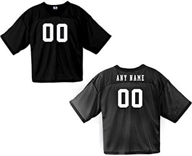 Amazon Com Football Fan Jersey Custom Front And Back V Neck Wicking 7 Colors 10 Youth Adult Sizes Clothing