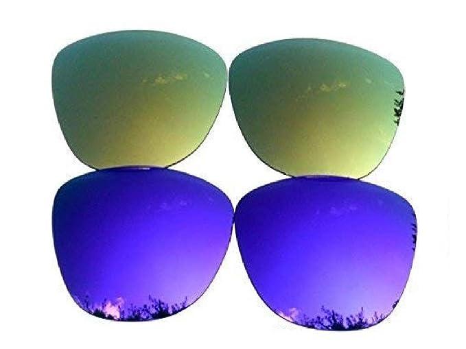 Galaxylense lentes de repuesto para Oakley Frogskins púrpura y oro ...