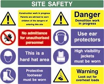 Baustellenschilder sicherheit  Konstruktion & Baustellenschild - Sicherheit Schild Baustellen ...