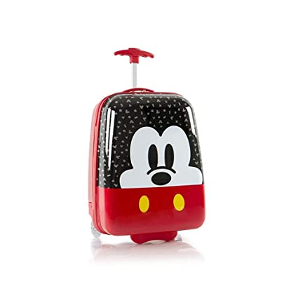 e19b1de04e9c Disney Mickey Mouse Kids Carry On Rolling Luggage, Hard Shell Travel  Suitcase for Boys - 18 Inch