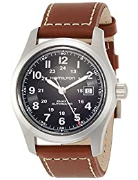 Hamilton Men's Field H70555533 Brown Leather Swiss Automatic Watch