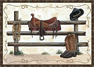 Amazoncom Custom Printed Rugs Home Accents Western Novelty Rug