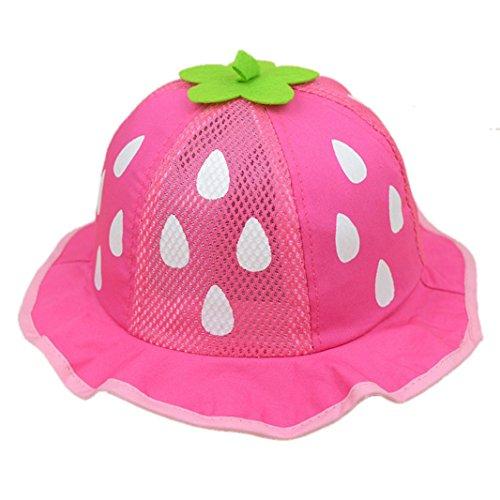 FEITONG(TM) New Baby Unisex Baseball Cap Mesh Sunhat Strawberry Raindrop Shaped Hat (Hot ()