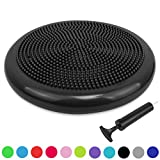 Trideer Air Stability Wobble Cushion with Free Pump, 34/35cm Extra Thick Core Balance Disc, KIDS Wiggle Seat, Great for Improving Core Strength & Relieving Back Pain - Available in multicolo