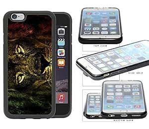 Fierce Rastafarian Lion Rubber Silicone TPU Cell Phone Case Apple iPhone 6 (4.7 INCH SCREEN)