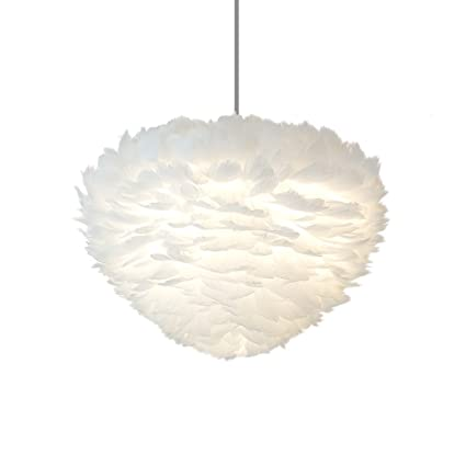 Gaoyu Lámpara Colgante Moderna de Plumas Blancas y lujosas ...