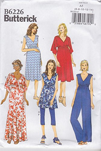 Butterick Patterns 6226 Misses Maternity Tunic