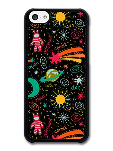 New Alien Spaceman Pattern Colourful Funny Cool Design coque pour iPhone 5C