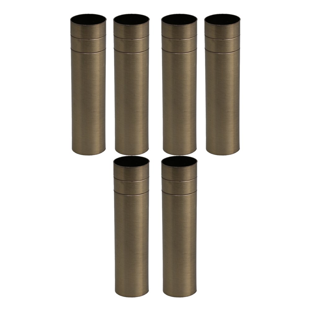RDEXP 100mm Long 25mm Dia Bronze Double Line Chandelier Candle Light Cover Sleeves Socket Candelabra Base Set of 6