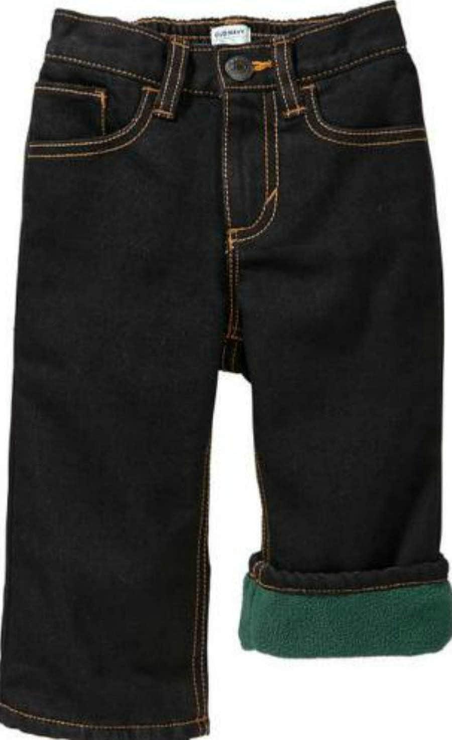 Old Navy Boys Fleece Lined Jeans Sz 18M-24M Black
