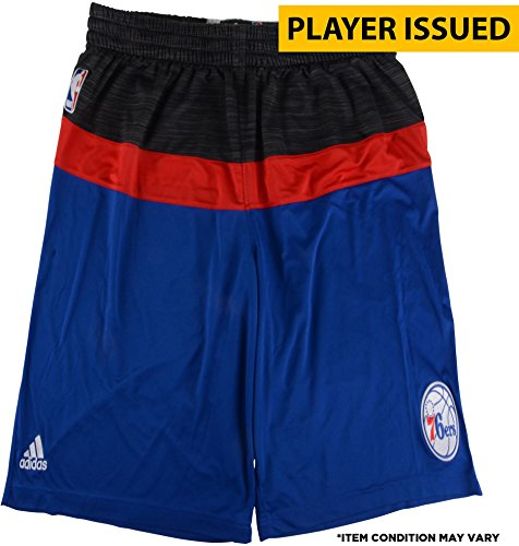 Richaun Holmes Philadelphia 76ers Player-Issued #22 Gray, Red, and Blue Shorts from the 2016-17 NBA Season - Size 2XL +2 - Fanatics Authentic Certified