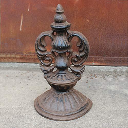 SLH European Cast Iron Crafts Wrought Iron Vintage Door Stop Garden Decoration Ornaments Door File ()