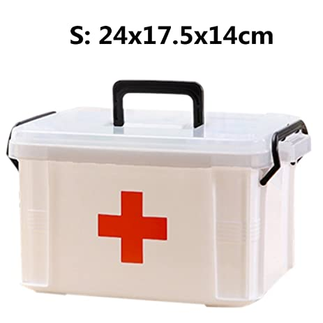 Lovely Family Medicine Cabinets, Petforu Household Medical Box EMPTY First Aid Kit  Plastic Storage Pill Cases