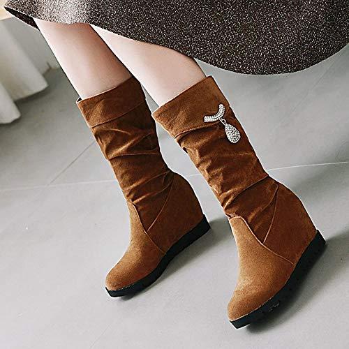 Moda Moda Moda Zeppa On On On 87 Stivali Scarpe Autunnali Marrone Pull Donna COOLCEPT ASqT1