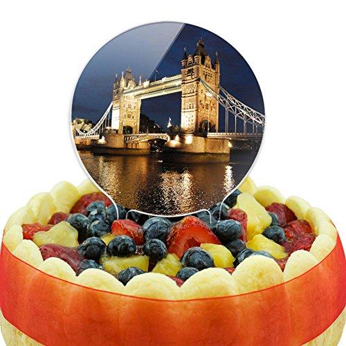 London Tower Bridge - Tower Bridge London Night Cake Top Topper