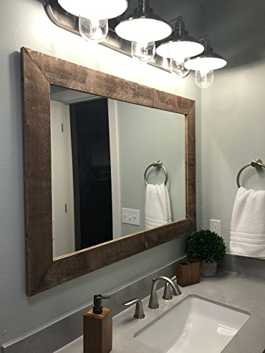 Renewed Décor Shiplap Reclaimed Wood Mirror in 20 stain colors - Large Wall Mirror - Rustic Modern Home - Home Decor - Mirror - Housewares - Woodwork - Frame - Stained Mirror