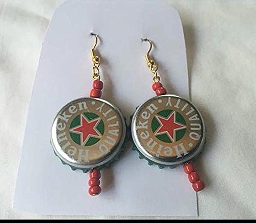 heineken-silver-red-star-green-and-opaque-red-glass-bead-upcycled-bottlecap-earrings