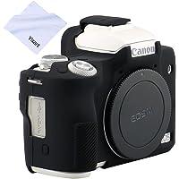 Yisau Camera Body case, Silicone case Cover for Canon EOS M50 Digital Camera (Black)