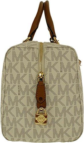 MICHAEL Michael Kors Women's Kirby Large Satchel Vanilla Handbag