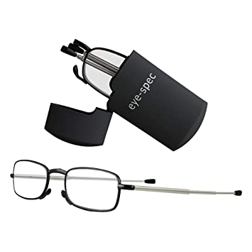 275ef415aeef Folding Reading Glasses With Smart Pocket Sized Black Case | High Quality  Fold Up Design Available