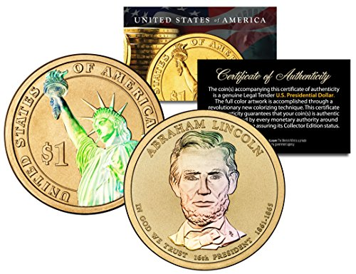 Us Presidents Dollar Coins - HOLOGRAM 2-sided 2010 ABRAHAM LINCOLN Presidential $1 Dollar U.S. President Coin