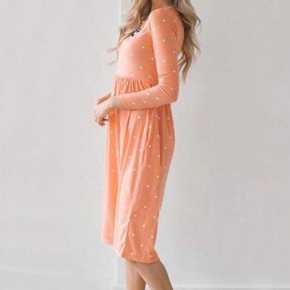 ZHRUI Vestido de Fiesta Midi de Noche para Mujer (Color : Naranja, tamaño : Large): Amazon.es: Hogar