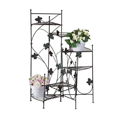 Ivy Design 6-shelf Metal Staircase Plant Stand Metal Flower Pot Plant Stand Display Indoor (Metal Ivy Design)